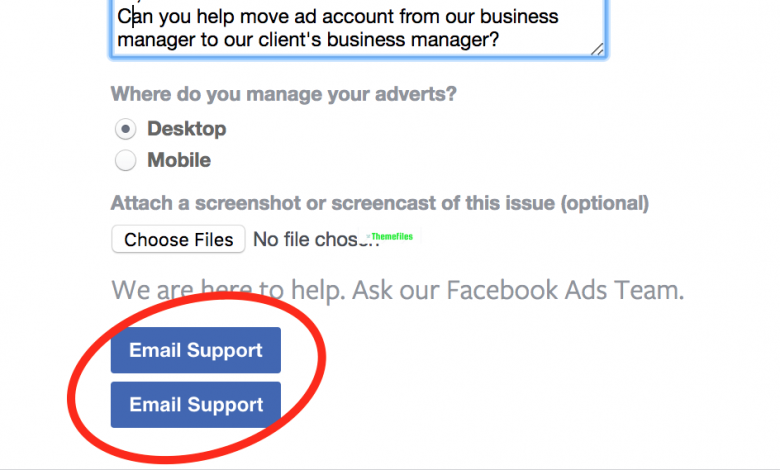 how to contact facebook - www.themefiles.us ads manager support