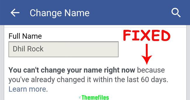 Change Facebook Name Before 60 Days-trick