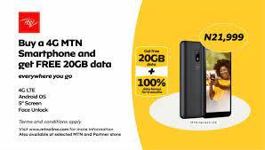 How To Get Mtn 20GB Free Data Plus 100% Data Bonus