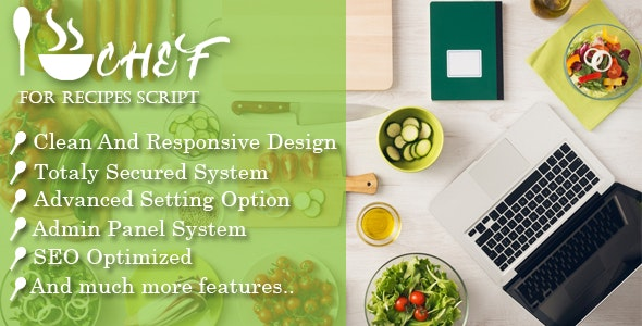 Download I-Chef Recipes Script Free - www.themefiles.us